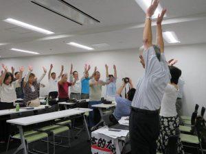 8月31日博多バスターミナルの連帯集会